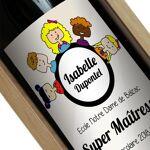 Amikado Bouteille de vin personnalisée Merci Maîtresse Votre bouteille... par LeGuide.com Publicité