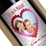 Amikado Bouteille de vin personnalisée Coeur photo Une bouteille de vin... par LeGuide.com Publicité