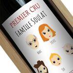 Amikado Bouteille de vin We Are Family Une étiquette de bouteille de... par LeGuide.com Publicité