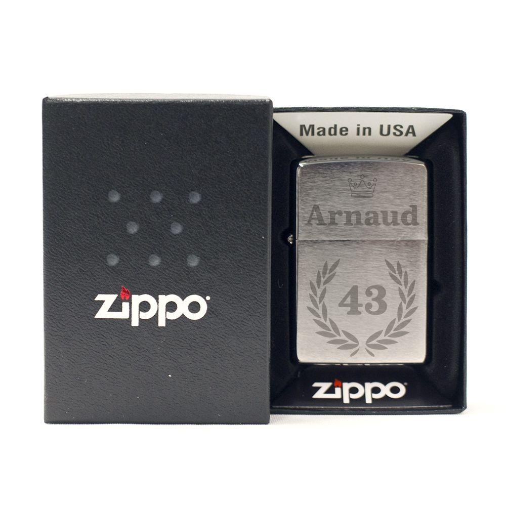 Amikado Zippo® anniversaire personnalisé