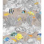 homemaison  HomeMaison Tissu en coton imprimé croquis de la vie sous-marine... par LeGuide.com Publicité