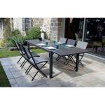 homemaison  HomeMaison Ensemble de jardin avec table à rallonge et chaises... par LeGuide.com Publicité
