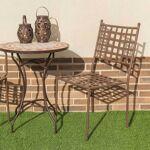 homemaison  HomeMaison Lot de 4 chaises empilables en fer forgé Esprit... par LeGuide.com Publicité