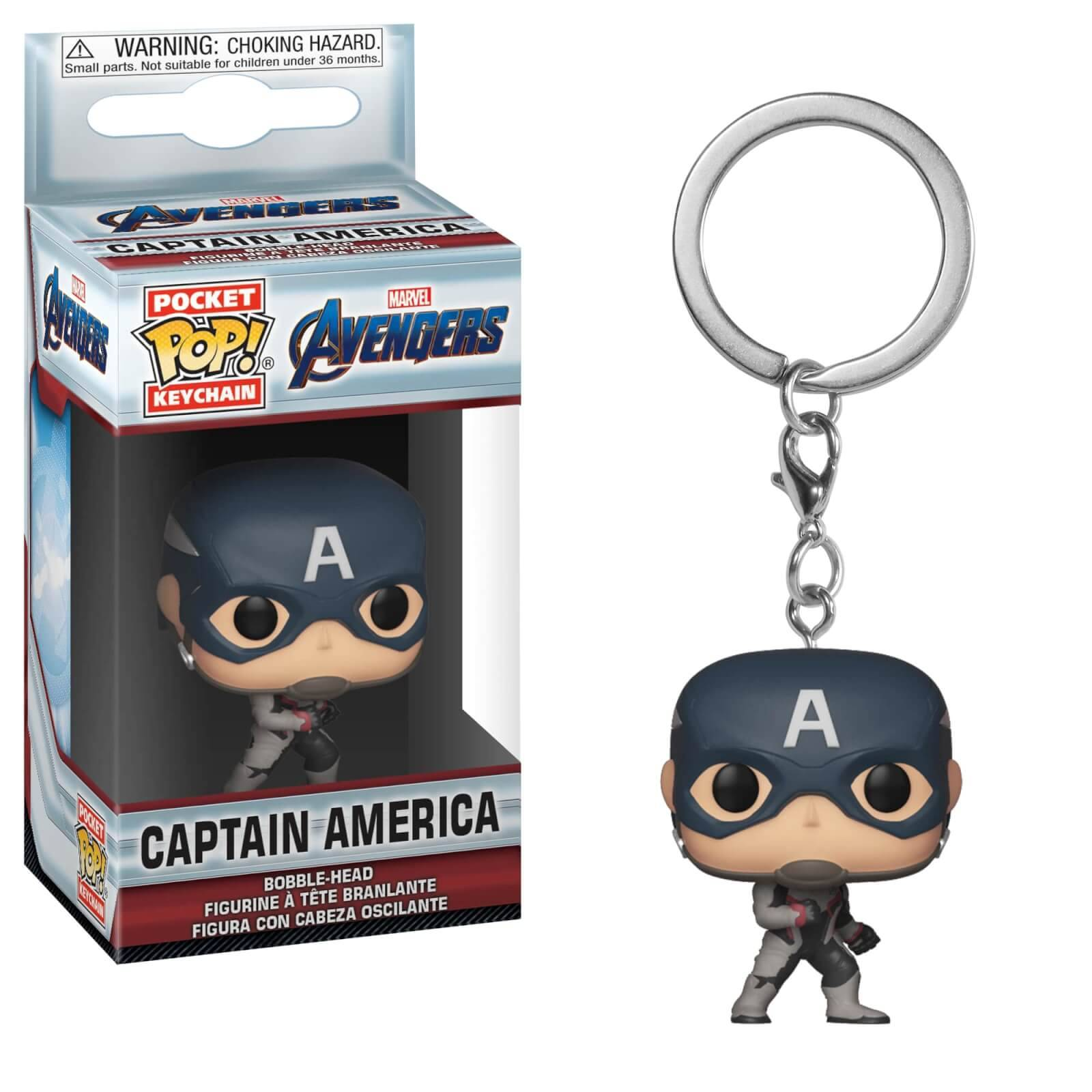 Pop! Keychain Porte Clé Pop! Keychain Marvel Avengers Endgame - Captain America