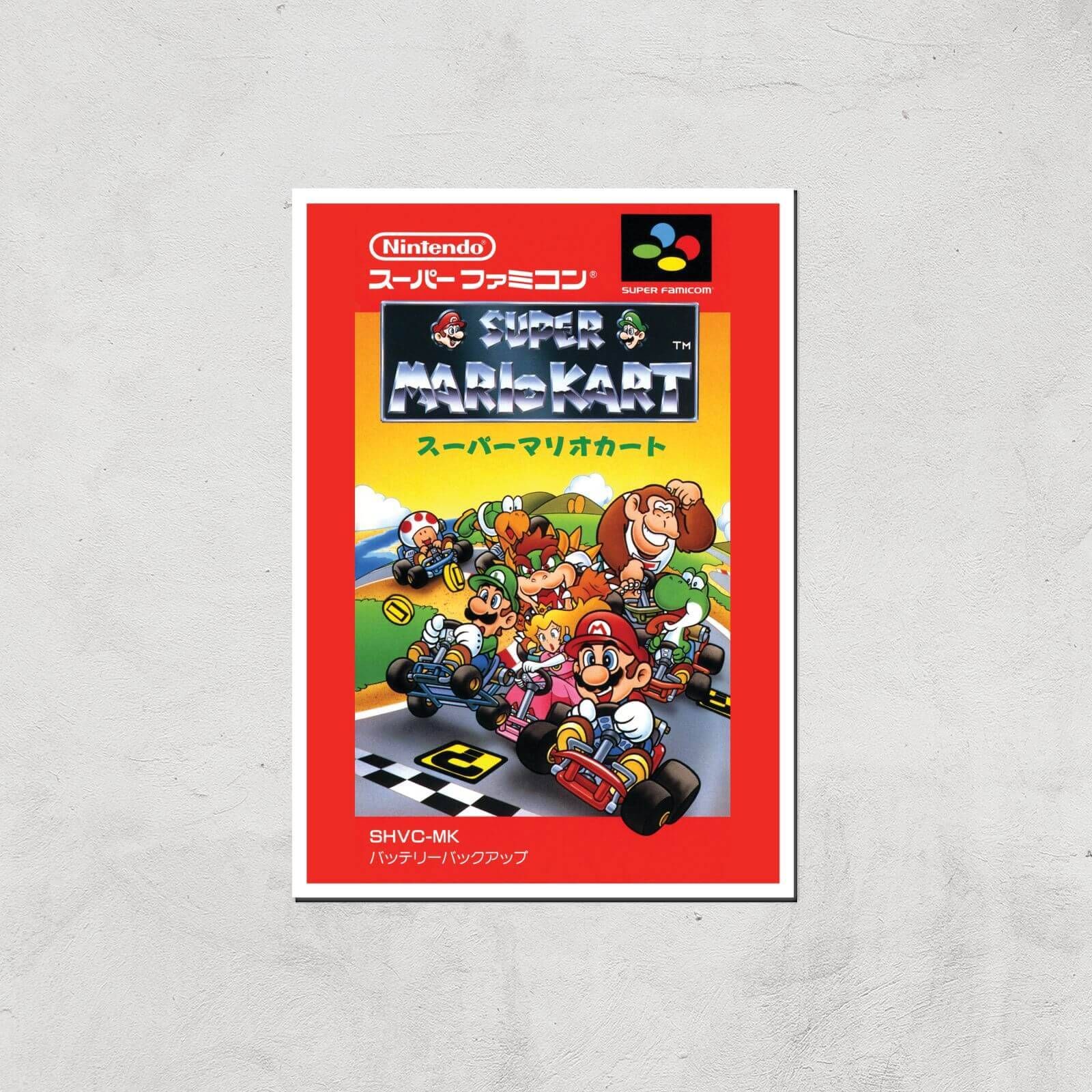 Nintendo Retro Super Mario Kart Cover Art Print - A4 - Print Only