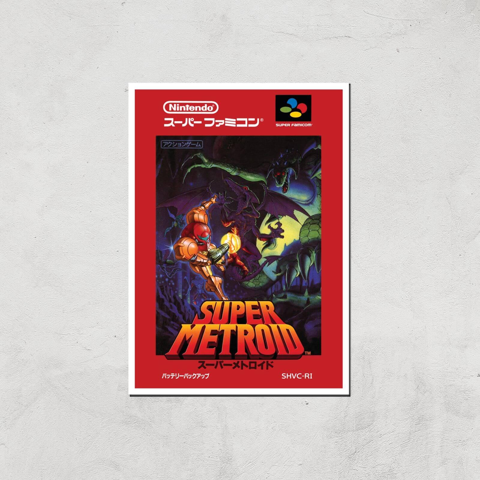 Nintendo Retro Super Metroid Cover Art Print - A4 - Print Only