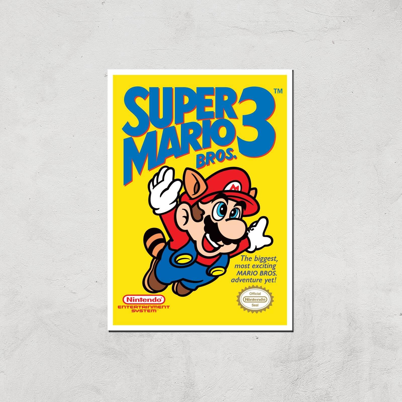 Nintendo Super Mario Bros 3 Art Print - A4 - Print Only