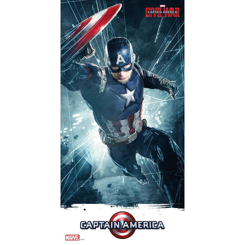 SD Toys Affiche en Verre Captain America Civil War - Captain America (60 x 30cm)