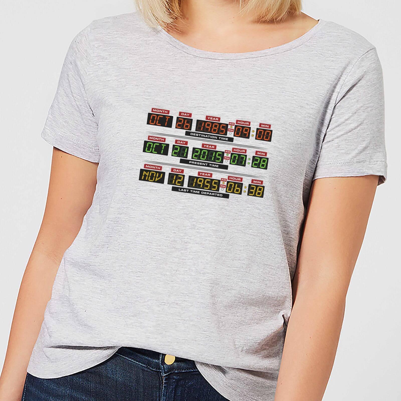 Back to the Future T-Shirt Femme Retour vers le Futur - Vers l'Horloge - Gris - M - Gris