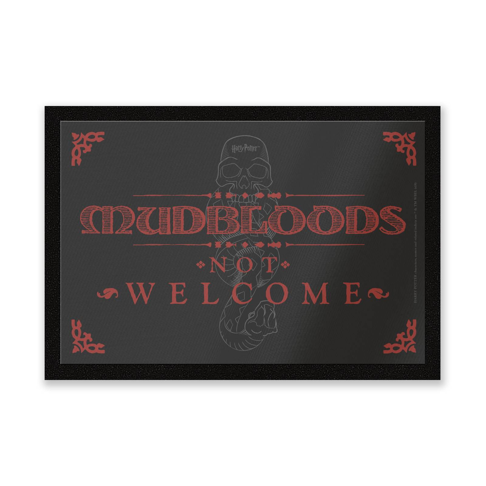 Harry Potter Paillasson Mudbloods Not Welcome Harry Potter