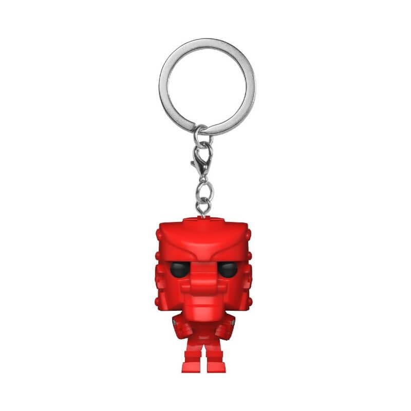 Retro Toys Mattel RockEmSockEmRobot Red Funko Pop! Keychain