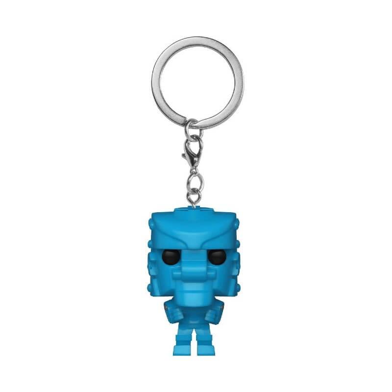 Retro Toys Mattel RockEmSockEmRobot Blue Funko Pop! Keychain