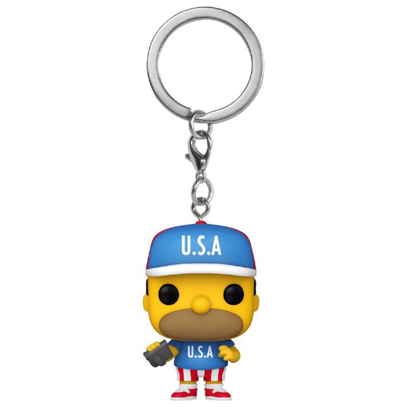 Porte-clé Pop! Homer USA - Les Simpson