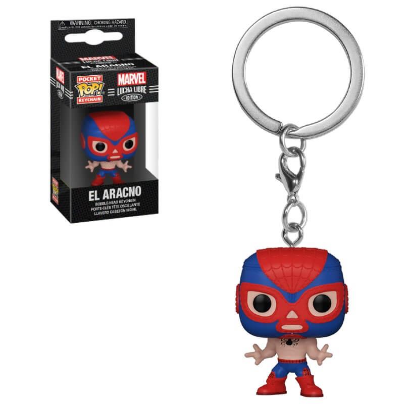 Marvel Luchadores Spider-Man Pop! Keychain