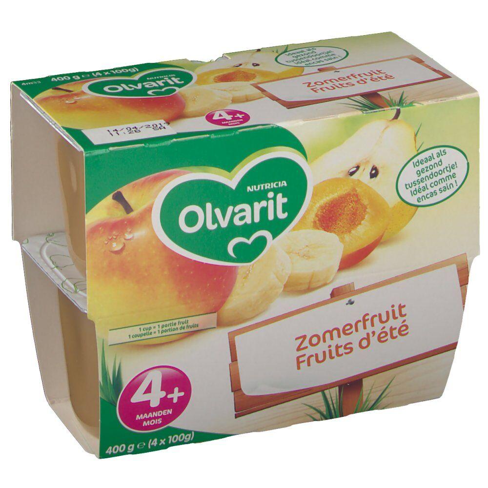Nutricia OlvaritCompoteFruitd'été4+mois g purée