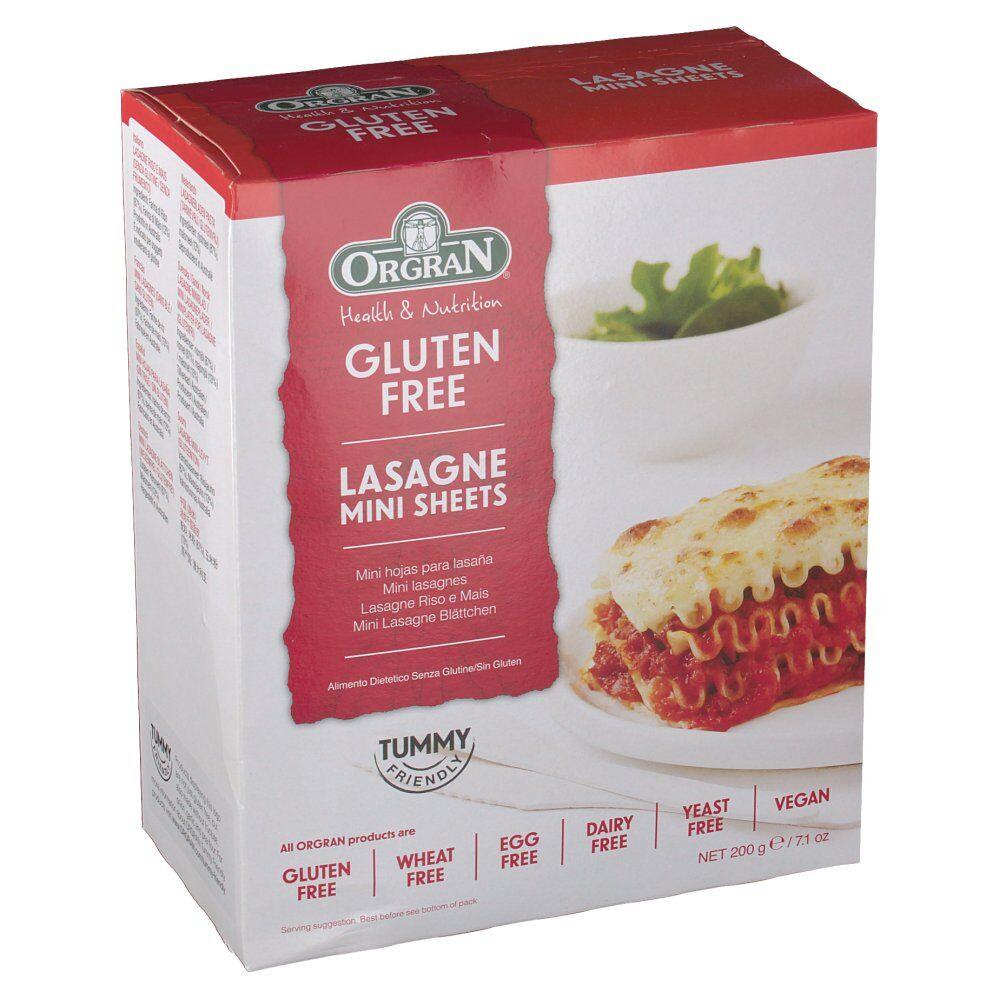 Revogan Orgran Lasagne feuilles mini sans Gluten 200 g 0720516021008