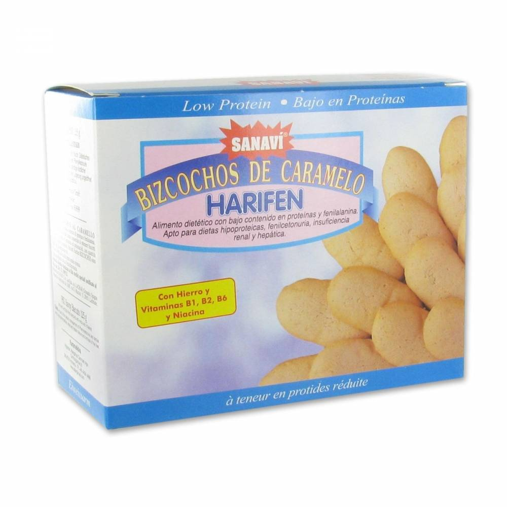 Sanavi® Sanavi Harifen Cookies Caramel 125 g 8425887005023