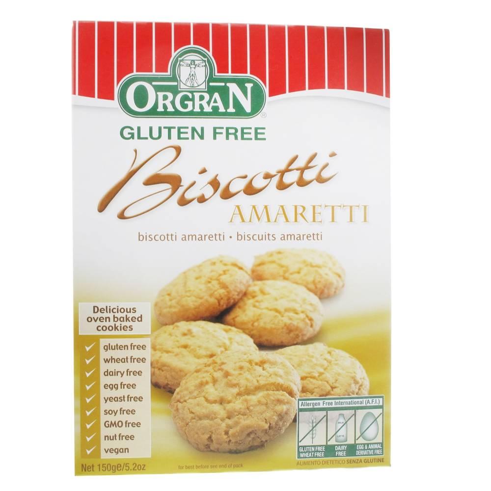 Revogan Orgran Biscotti Amareti 150 g 0720516021190