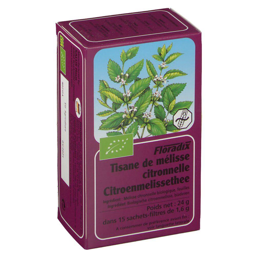 Ocebio Floradix Tisane de mélisse-citronnelle 15 pc(s) 4004148013119