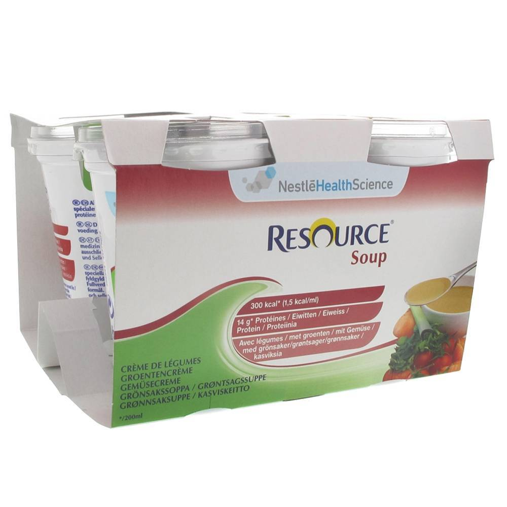 Resource® Resource Soupe Légumes 200 ml 4 pc(s) 7613032653187