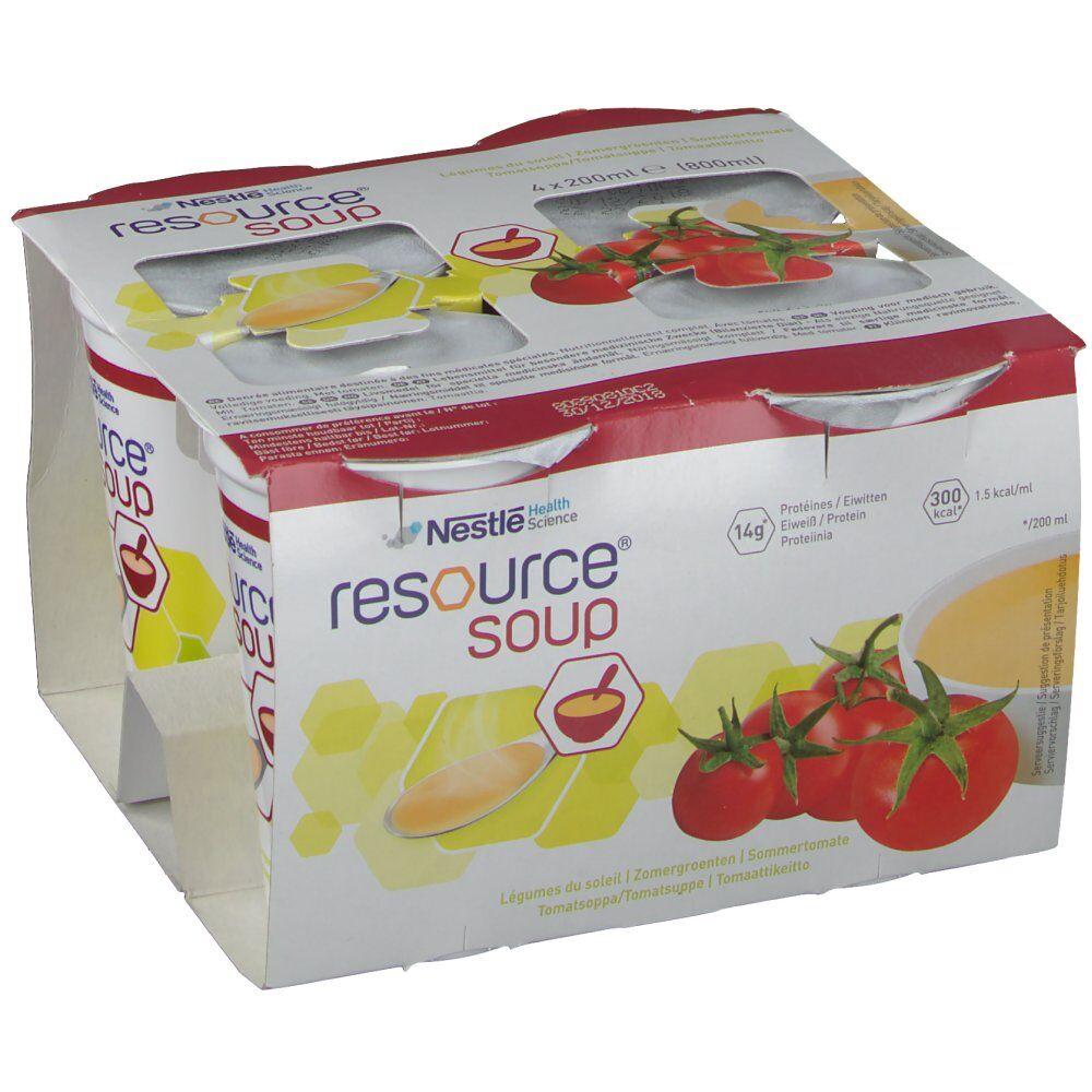 Nestlé Belgilux Resource Soupe Légumes d'été 200 ml 4 pc(s) 7613032653163