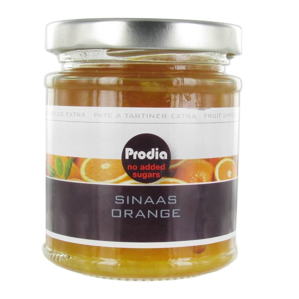 Revogan Prodia Confiture Extra orange sans sucres ajoutés 215 g 5400272556413
