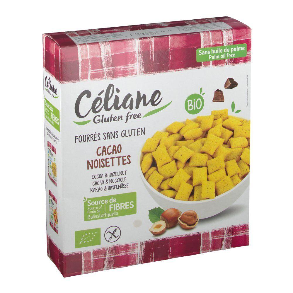 Revogan Celiane Céréales bio fourées cacao/noisette sans gluten 300 g 3700566455012