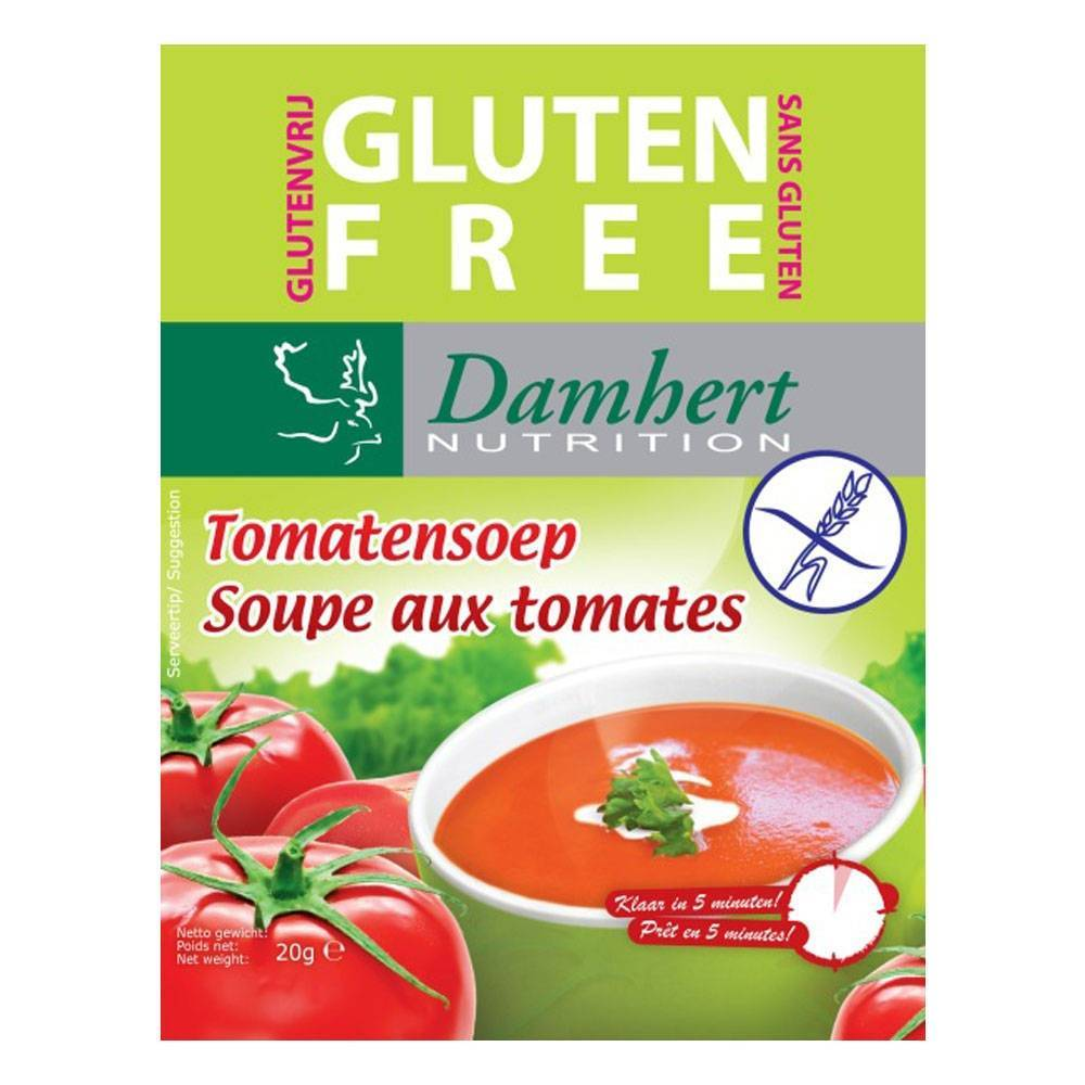 2Pharma OTC Damhert Instant Soupe auxTomates Sans Gluten 20 g 5412158020222