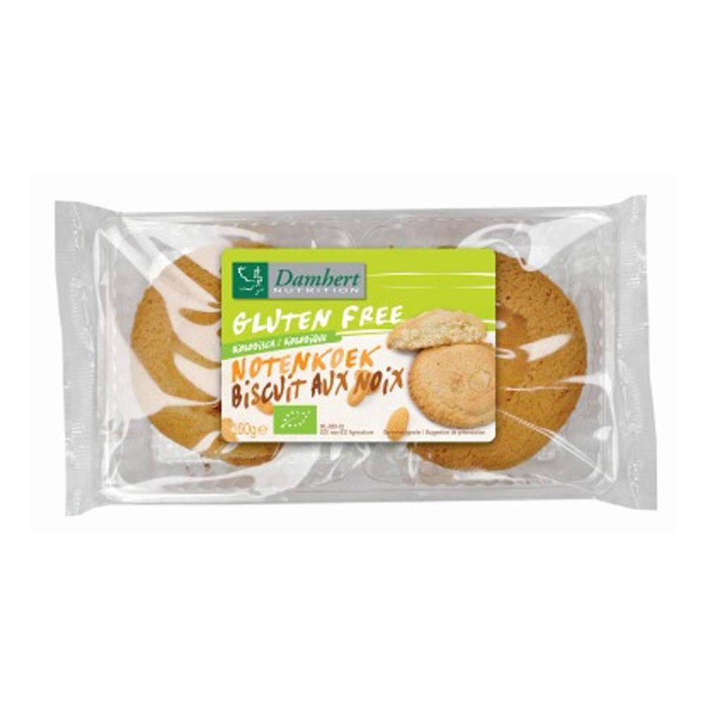 2Pharma OTC Damhert Biscuits Aux Noix Sans Gluten 160 g 5412158009807