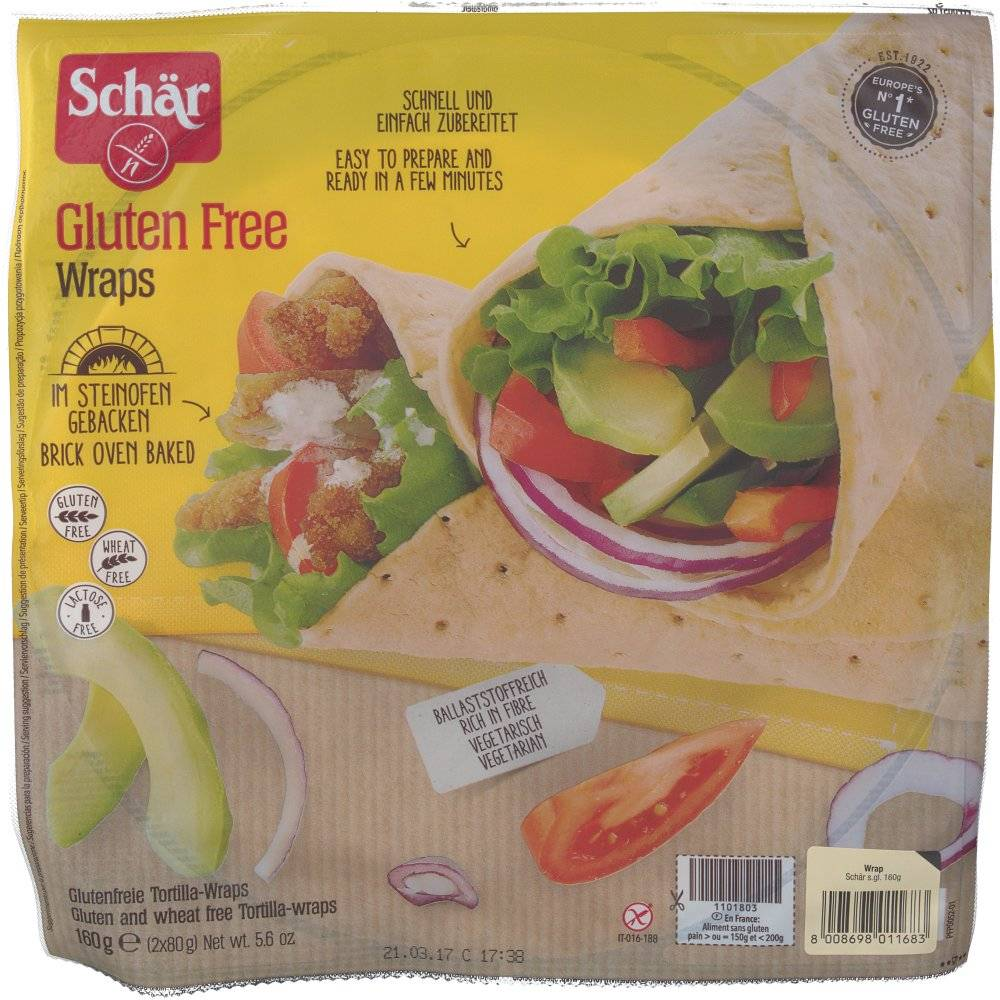 Revogan Schär Wraps Sans Gluten 2x80 g 8008698011683