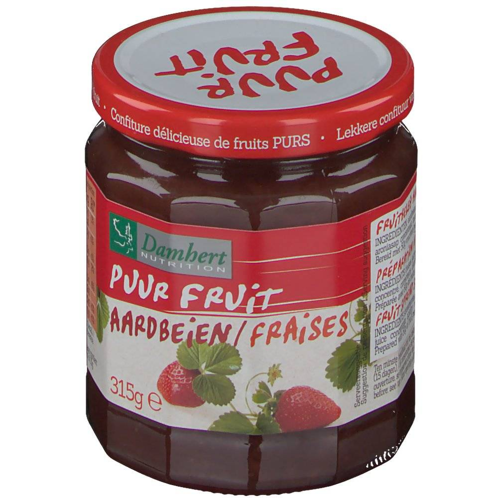 2Pharma OTC Damhert Puur Fruit Confiture aux fraises 315 g 5412158001757