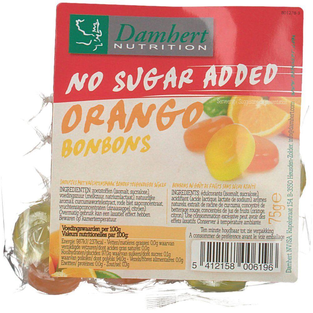 2Pharma OTC Damhert No Sugar Added Bonbons orango 75 g 5412158006196