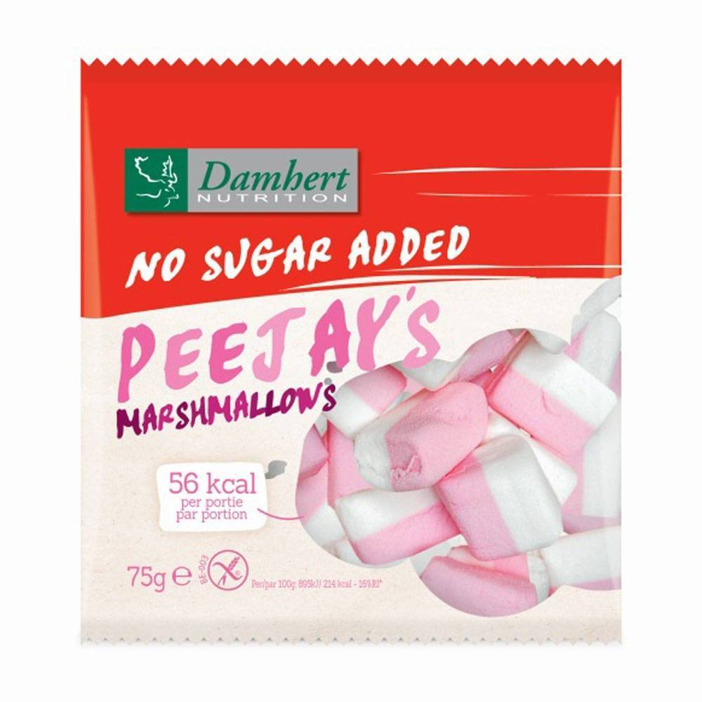 2Pharma OTC Damhert No Sugar Added Peejays marshmallows 75 g 5412158005991