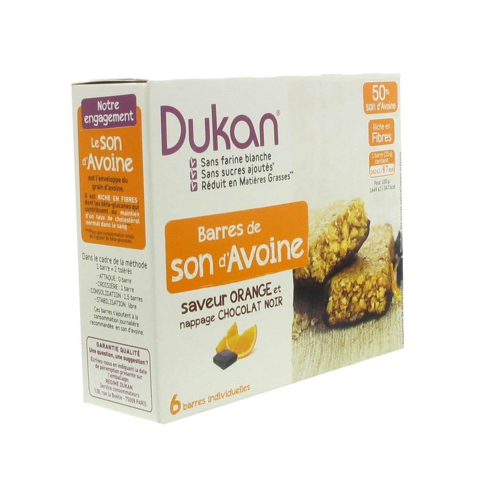 Europharma Group Dukan Barre Orange + Glaçage au Chocolat 6 pc(s) 3760151012464