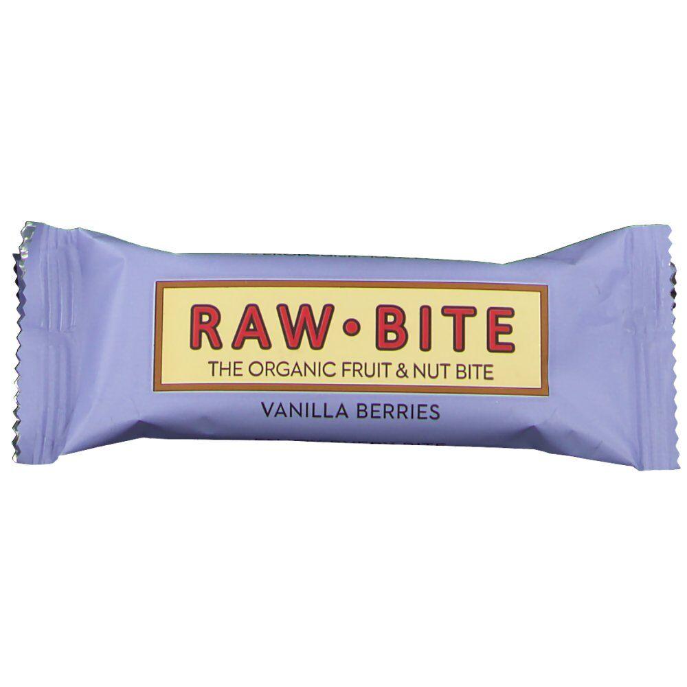 RAW Bite Bio Barres Baies de vanille 50 g 5712840020074