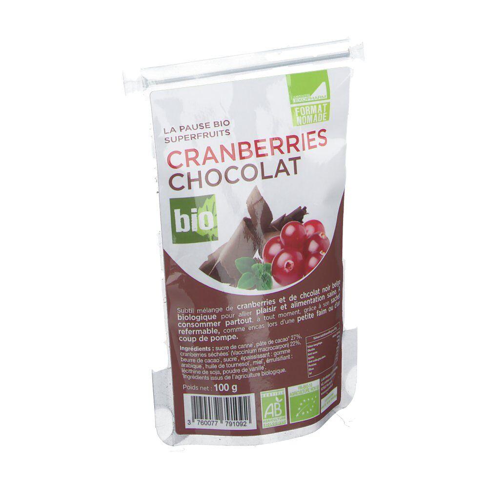 Exopharm Chocolat ET Cranberries Biologiques 100 g 3760077791092