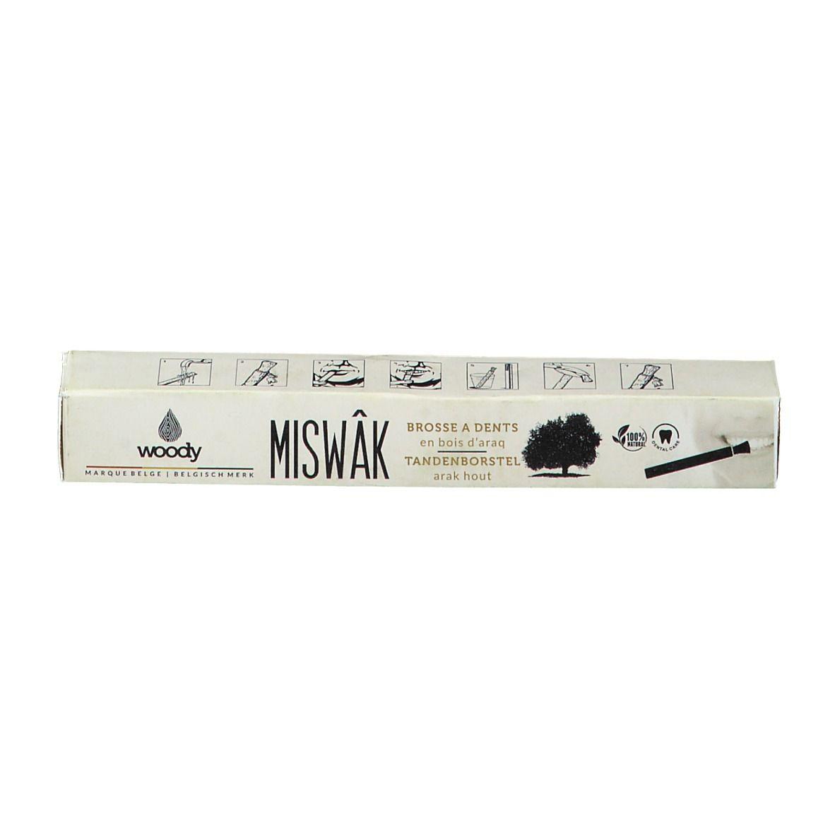 Woody Miswak Brosse à dents en bois d'araq pc(s) brosse(s) à dents