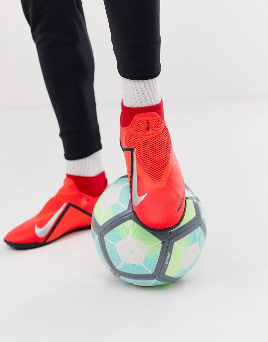 Nike Football - Phantom vision - Chaussures de football pour gazon synthétique - Rouge taille: 46