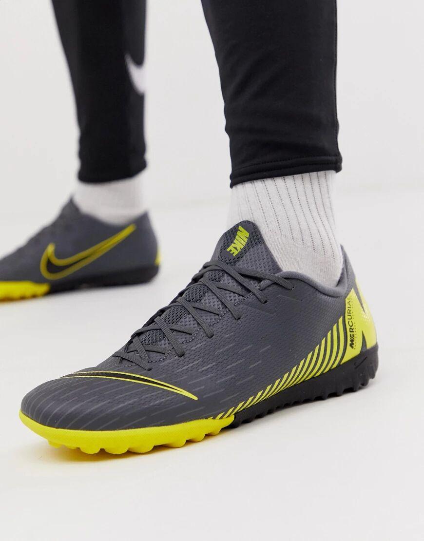 Nike Football - Vaporx 12 - Chaussures de football pour gazon synthétique - Gris taille: 44