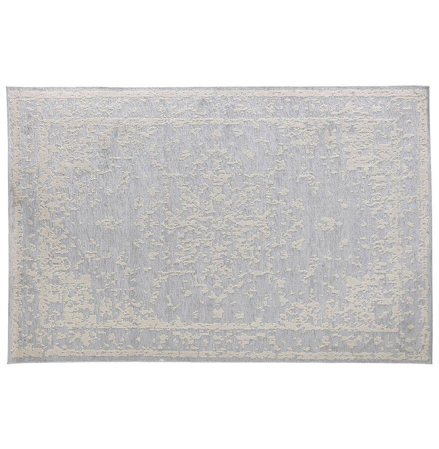 Alterego Tapis bohème 'DAVINCI' 160/230 cm motifs gris