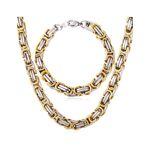 HommeBijoux Parure chaine et bracelet homme acier plaqué or maille byzantine... par LeGuide.com Publicité