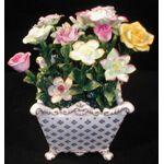 Demeure et jardin Vase carré avec fleurs Bouquet en trompe l il dans... par LeGuide.com Publicité