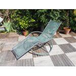 Demeure et jardin Chaise longue en fer forgé Profitez des beaux jours... par LeGuide.com Publicité