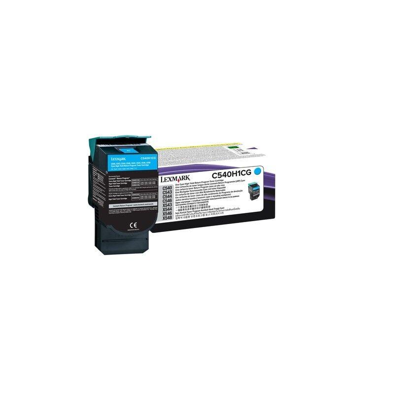 Lexmark Cartouche Toner C54X Haute Capacité Cyan 2 000 pages LRP