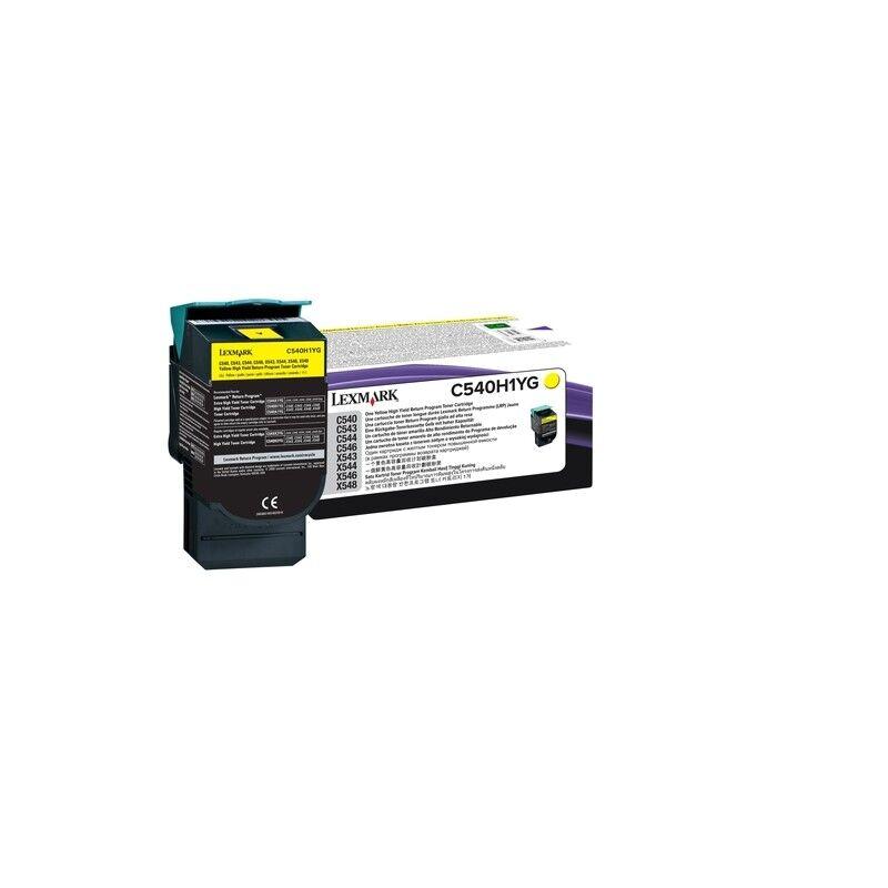 Lexmark Cartouche Toner C54X Haute Capacité Jaune 2 000 pages LRP