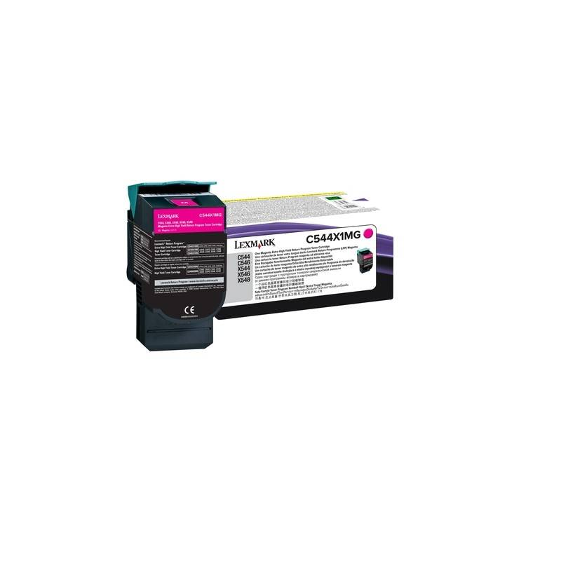 Lexmark Cartouche Toner C54X Magenta 4 000 pages LRP