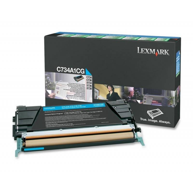 Lexmark Cartouche Toner C73X Cyan 6 000 pages LRP