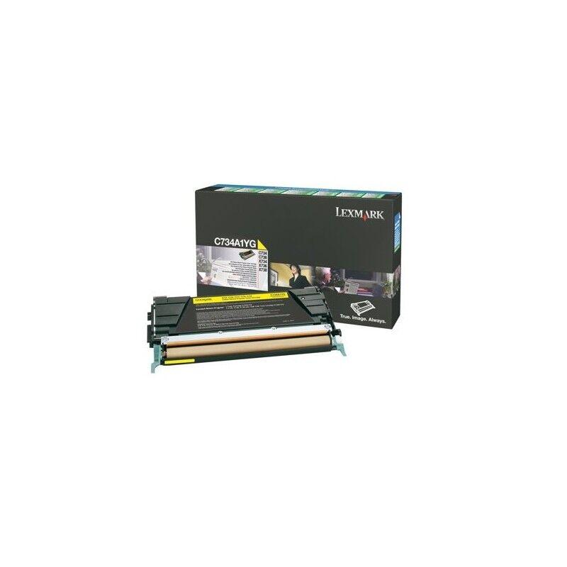 Lexmark Cartouche Toner C73X Jaune 6 000 pages LRP