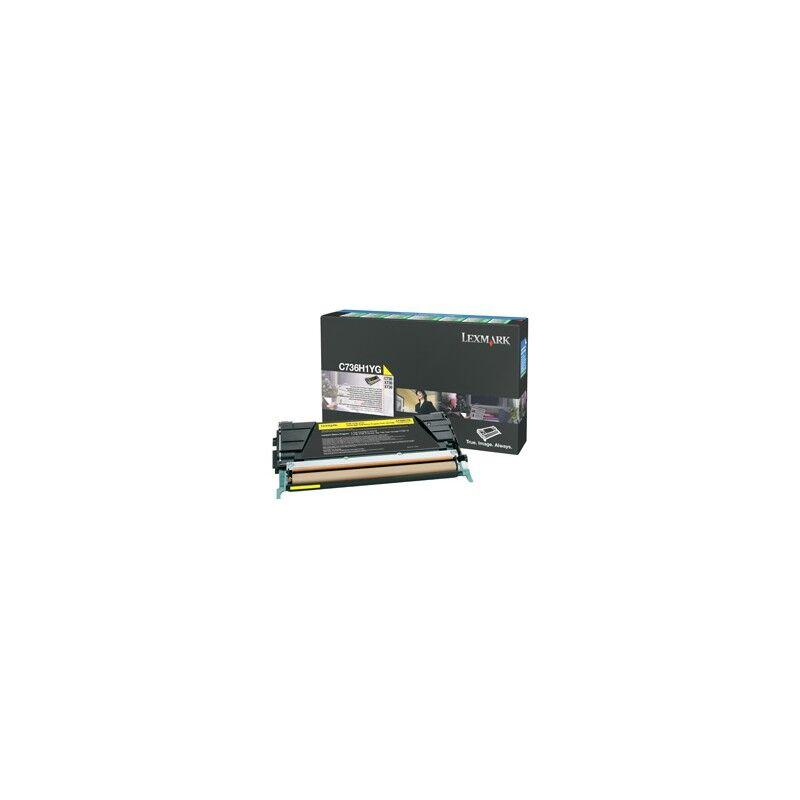 Lexmark Cartouche Toner C73X Jaune 10 000 pages LRP
