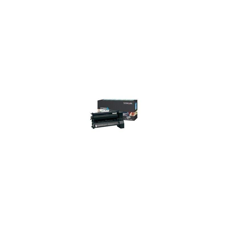 Lexmark Cartouche Toner C77X Haute Capacité Cyan 10 000 pages LRP